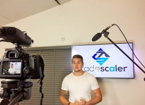Filming for TradeScaler business education videos